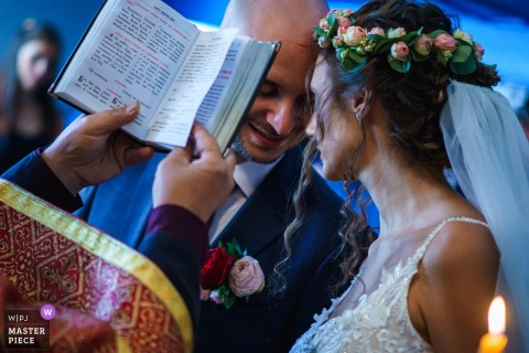Bojenci Vilage, Bulgaria wedding pictures. The end of the church ceremony