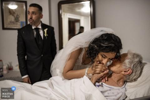 reggio calabria trouwdag foto's van de grootmoeder van de bruid