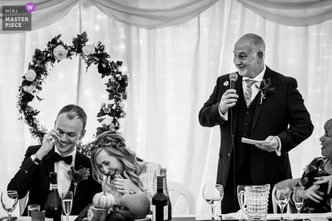 Pentre Mawr wedding venue photography of that story had everyone laughing