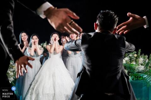 Fotografia de casamento Sheraton Grand Beijing da cerimônia