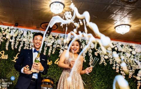 Orange County, Californie - cassez l'objectif à la réception de mariage