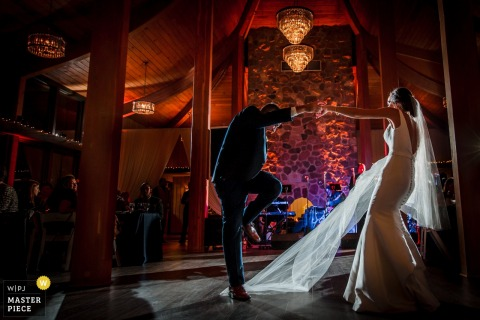 Huwelijksfotografie van de Oakbrook Bath and Tennis Club, Oakbrook, IL - Daddy Daughter Dance