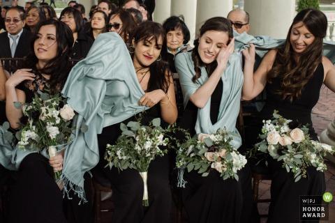Philadelphie, PA Photo de cérémonie de mariage venteuse