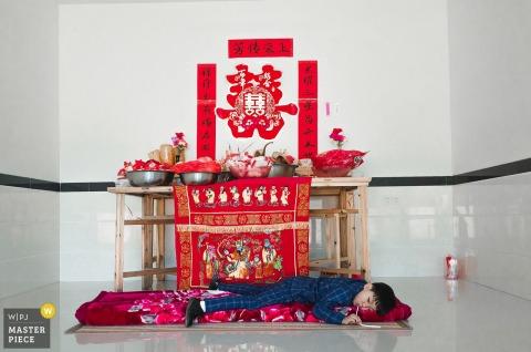 FuJian QuanZhou photographie de mariage de jour réel: enfant sera enfant