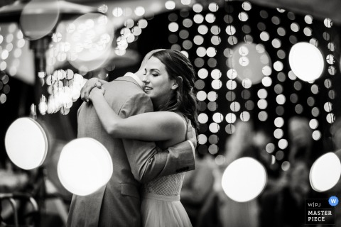 Bride's uncle's farm outside Longmont, Colorado	- Wedding photo of the First dance.