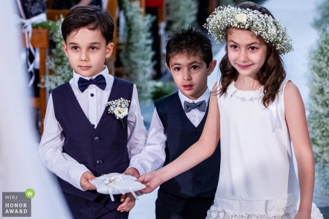 Chiesa San Francesco all'Immacolata - Catania - Wedding kids arriving with the rings on the pillow