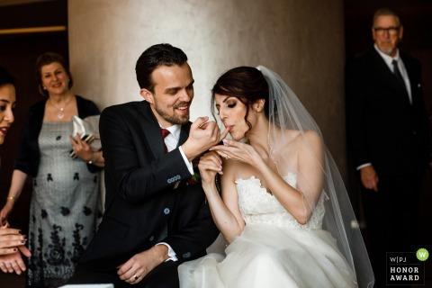 Antalya, Turkey, Akra Barut Hotel venue photography - Persion wedding ceremony, honey eating.