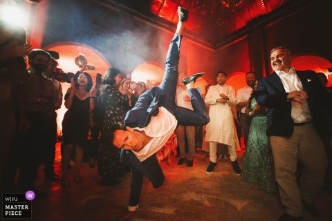 The Capaldi Hotel Morocco image contains: Wild dancing guest at the wedding