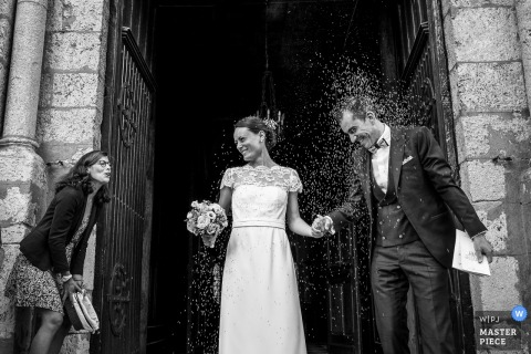 France Church wedding photo of the Lavender Moment