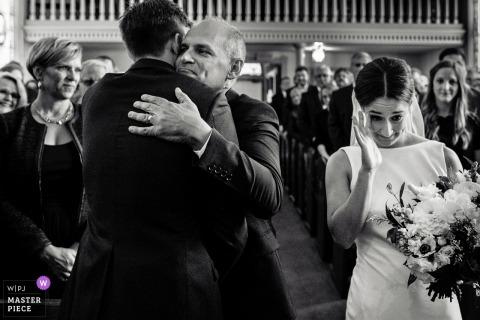 Madison WI photographie de mariage du père donne la mariée