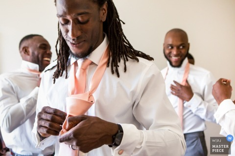 The Atrium London Venue, London, UK	wedding photos | Groomsmen getting ready