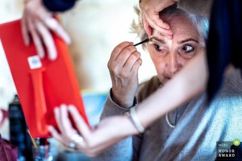 Kientzheim - Foto de boda de Alsacia preparándose - Maquillarse como un profesional