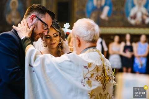 St. Nedelya Church, Sofia - Church ceremony photography with priest blessings