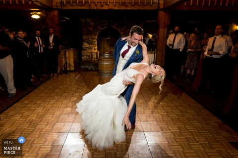 Colorado wedding photography at Telluride Peaks Resort | Bride and groom during first dance