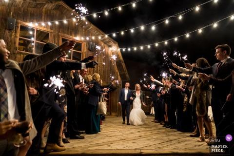 Telluride Peaks Resort wedding venue photos | Sparkler exit from CO reception