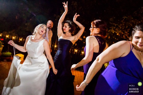 Private residence wedding photo from Saratoga - So much fun dancing with bridesmaids