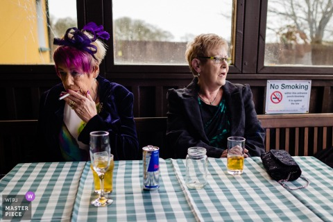 Liscannor, Reception Photography - Grannies smoking at the wedding