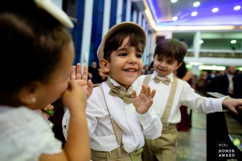 Wedding photo of kids being kids.
