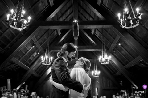 California Reception venue photography | The bride and groom's first dance at reception