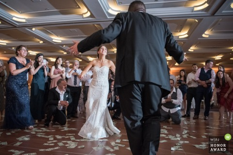 Wedding reception venue photo, Sacramento, CA - Newlyweds dancing.
