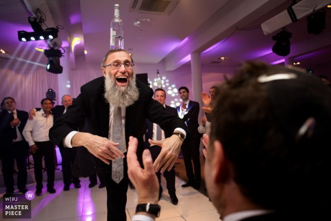 Kinloss Synagogue Israeli Dancing at wedding reception party