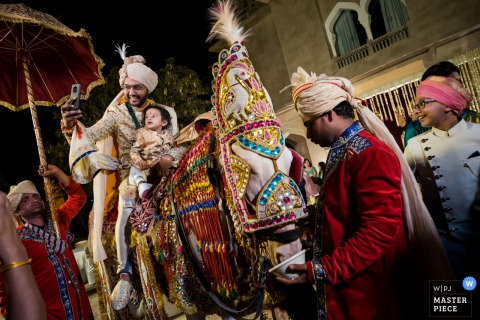 Jaipur baraat procession at wedding in India
