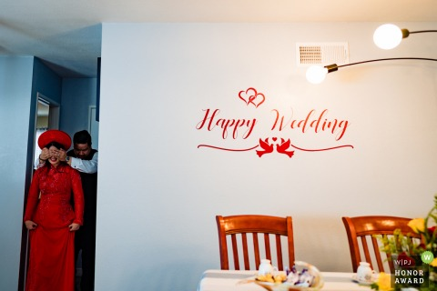 California Southern wedding day image showing The Groom wanted to give his Bride a gift