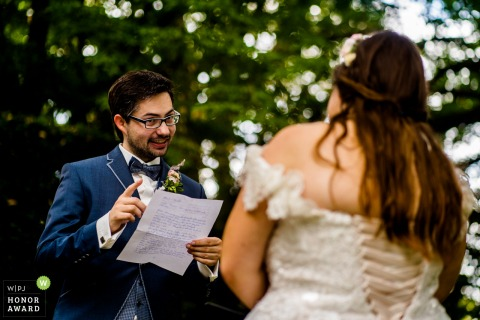 Germany outdoor wedding photography from Wiesbaden of The vows