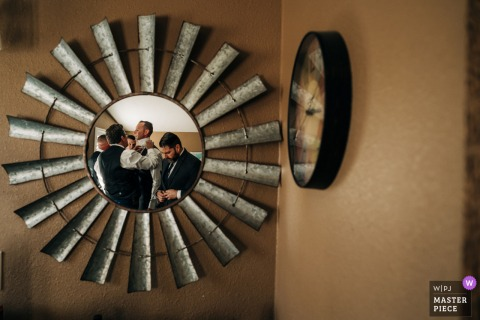 CA wedding photo from the Northern California ceremony Location of the Grooms getting ready
