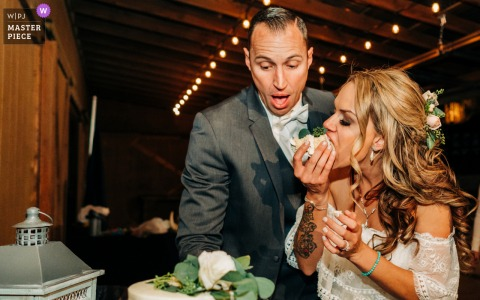California wedding photography from a Northern CA Reception Venue of the Cake Eating