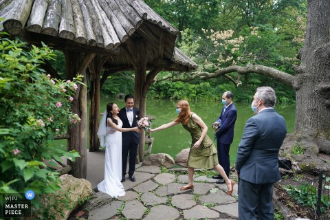 NYC wedding photography from a private, garden Ceremony in a Central park, New York