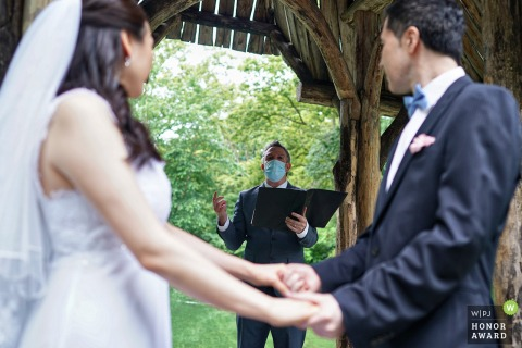 NY wedding photography from a Ceremony in a Central park, New York