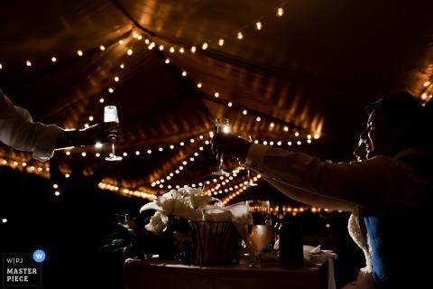 佛羅里達婚禮從海洋鑰匙度假村敬酒眼鏡攝影