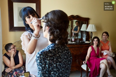Tuscany home of the bride getting ready picture from the wedding day