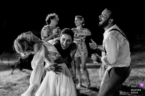 wedding photograph from Barbare Bag Evi of the bride and groom dancing with Freedom