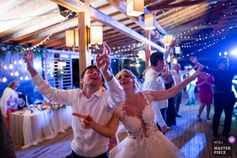 Bulgaria wedding venue Restaurant image of the after Party celebration dancing