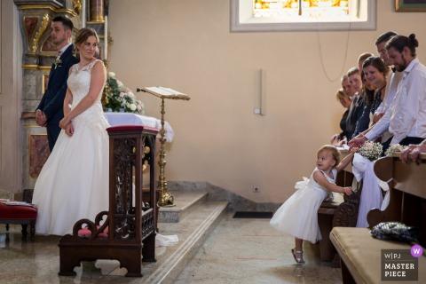 Bas-Rhin kerk bruiloft afbeelding met de moeder en het kind