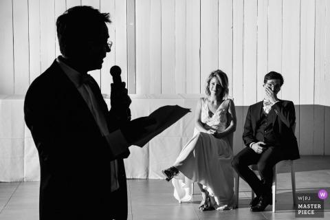 Het beeld van de de huwelijksreceptie van Montpellier, Frankrijk van de Schaduwtoespraken