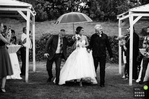 St. Sofia Golf Club outdoor wedding image of the Bride walking down the aisle
