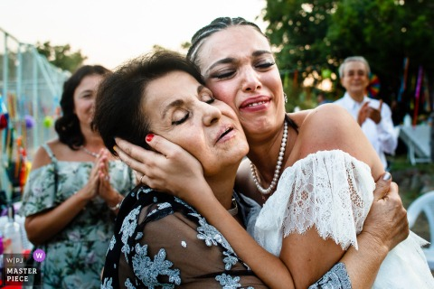 Ankara, Kizilcahamam bride's emotional moment with her aunt at the house of the couple