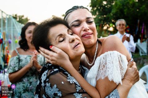 Ankara, het emotionele moment van de bruid van Kizilcahamam met haar tante in het huis van het paar