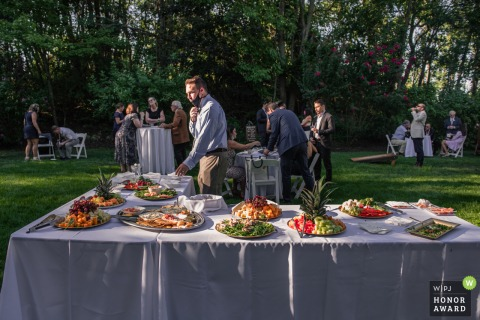 New Jersey outdoor wedding photography from The Estate at Eagle Lake NJ during the Cocktail Hour in the sunshine