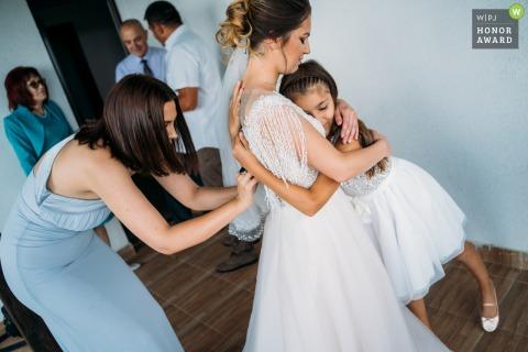 Balkan vilage, Bulgaria Bride and sister wedding photography