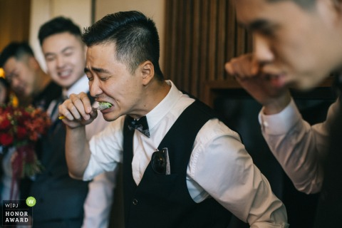China actual day wedding photo from a Shaanxi hotel during the Wedding game