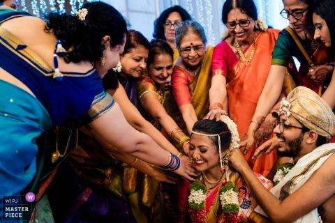 Immagine di fotografia di matrimonio da una cerimonia tradizionale di Jaipur, in India