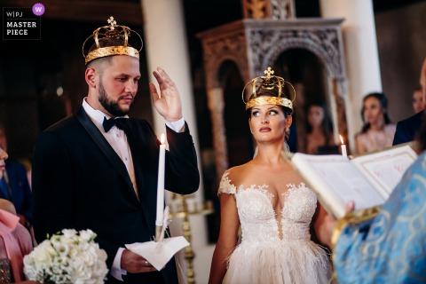 Foto del matrimonio dall'OASIS RESORT & SPA Lozenets come sembra che la sposa stia dicendo, stai attento