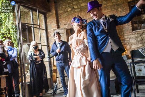fotografia di matrimonio a carate brianza - ricevimento durante un ballo di nozze molto speciale