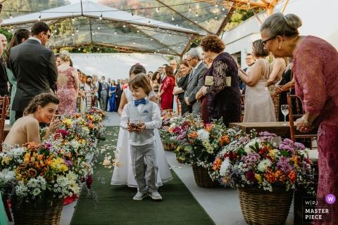 Foto del matrimonio del Rio Grande do Sul della pagina che entra nella cerimonia della tenda