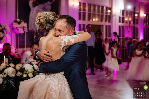 Sofia wedding image of a bride dancing with her father at the Terra Residence in Bulgaria