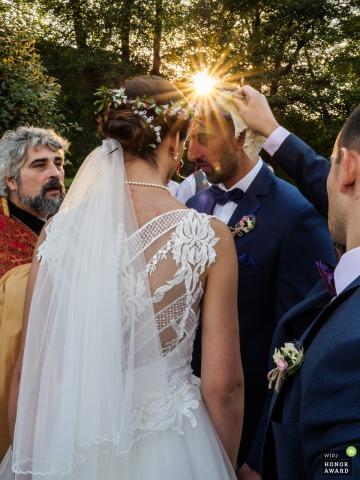 St. Ekaterina Resort ceremonia exterior de la iglesia armenia al aire libre en Ribarica, Bulgaria